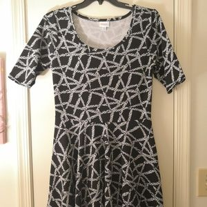 XL LuLaRoe Nicole Fit & Flare Dress